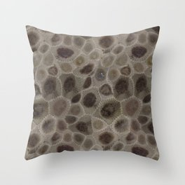 Petoskey Stone Throw Pillow
