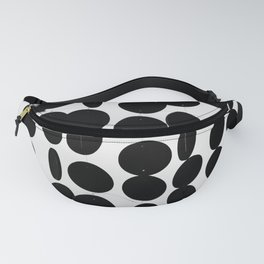 Black and White Circles Fanny Pack