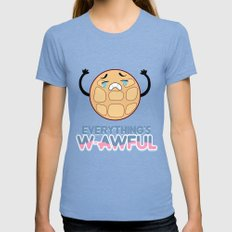 EVERYTHING'S W-AWFUL - STEVEN UNIVERSE - CRYING BREAKFAST FRIENDS Womens Fitted Tee Tri-Blue SMALL