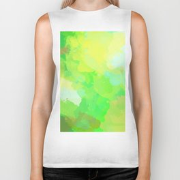 Colorful Abstract - green pattern, forest, nature Biker Tank