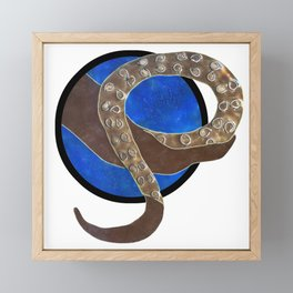 Creature of Water (porthole edit) Framed Mini Art Print