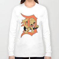 detroit Long Sleeve T-shirts featuring Detroit Rancors by Ant Atomic