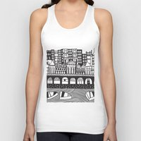 england Tank Tops featuring Brighton, England by Caroline Rees