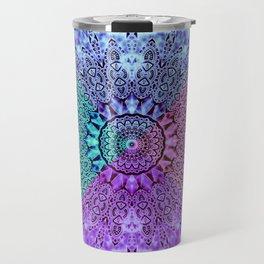 India Pattern Mandala Cloudy Clotting Blue Pink Purple Teal Travel Mug