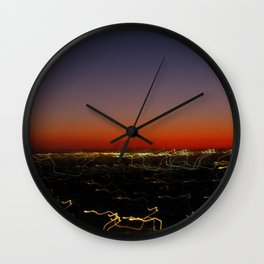 Lightscape One (Sunset) Wall Clock