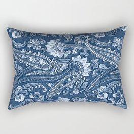 Blue indigo paisley Rectangular Pillow