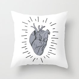 Radiant Heart Throw Pillow