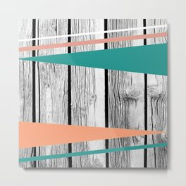 Colored arrows on wood Metal Print