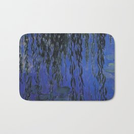 """Claude Monet """"Water Lilies and Weeping Willow Branches"""", 1919 Bath Mat"""