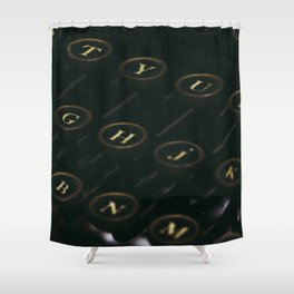QWERTY Shower Curtain