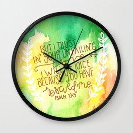 Psalm 13:5  // Watercolor Verses Wall Clock