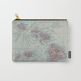 Map of Hawaii Carry-All Pouch