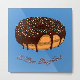 I love Doughnuts Metal Print