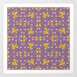 Four Bulbs Pinwheels Art Print