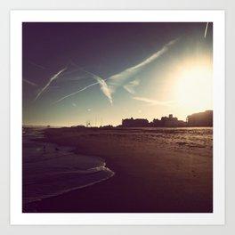 Ocean City Beach Art Print