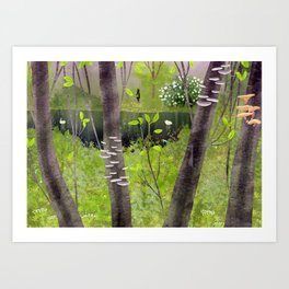 forest loneliness Art Print