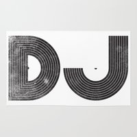 dj Area & Throw Rugs featuring DJ by Jonah Makes Artstuff