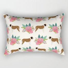 Saint Bernard florals dog breed floral bouquet dog pattern minimal pet friendly Rectangular Pillow