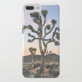 Joshua Tree.Portrait.Sunrise.Desert Art.Pink.Mojave iPhone Case