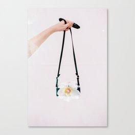 Film Camera Blossom Canvas Print