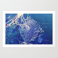 dreamcatcher Art Prints featuring dreamcatcher by Luiza Lazar