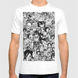 Ahegao hentai faces T-shirt