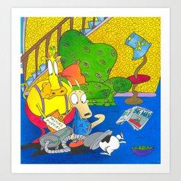 Rockos Modern Life Nickelodeon 90s Art Print
