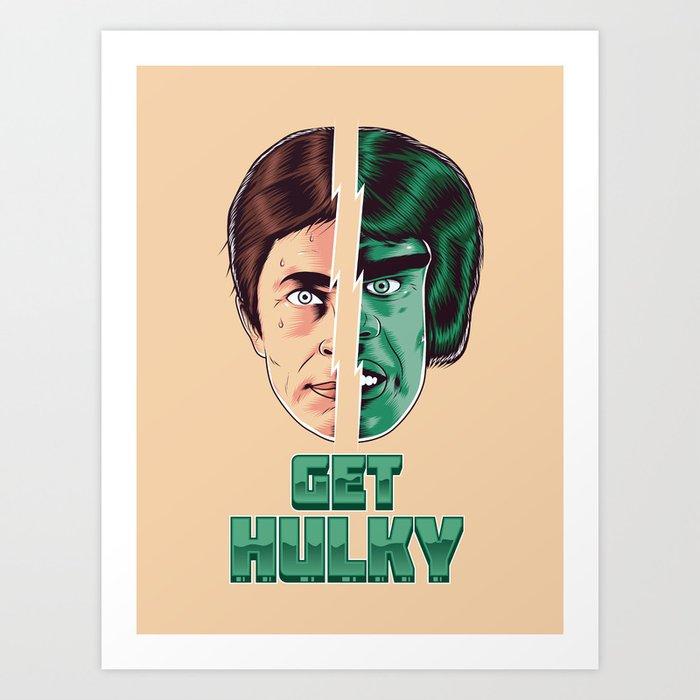 Get Hulky Daft Punk Mashup Art Print by roberlan