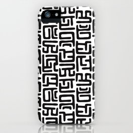 Black And White African Abstract Shapes iPhone Case