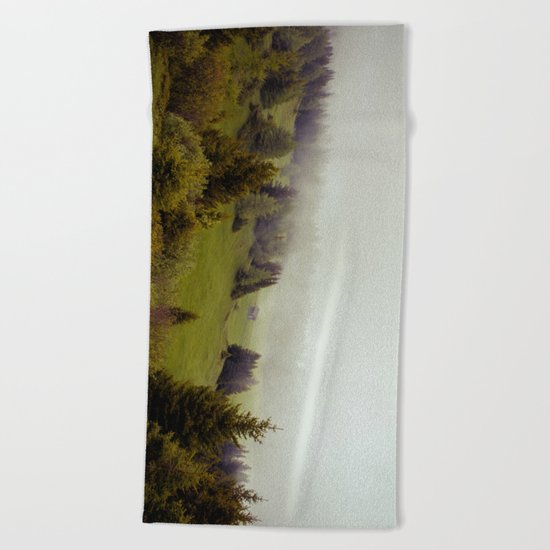 Misty Forest Beach Towel