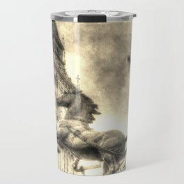 Big Ben and the Boadicea Statue Vintage Travel Mug