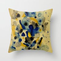 chemistry Throw Pillows featuring Floating Chemistry by Marcelo Romero