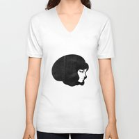 60s V-neck T-shirts featuring 60s by martiszu