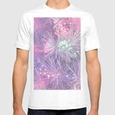 HAPPY NEW YEAR LIGHTS Mens Fitted Tee White MEDIUM