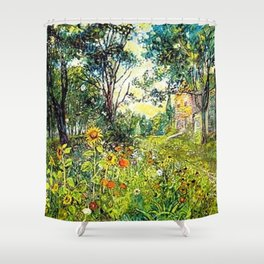 Sunflowers by David Burliuk Shower Curtain