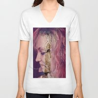 women V-neck T-shirts featuring women by Sowthistle