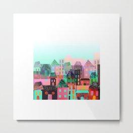 City Town Metal Print