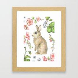Floral Bunny Framed Art Print