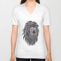 leo V-neck T-shirts featuring LEO by silb_ck