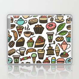 Coffee and pastry. Laptop & iPad Skin