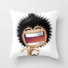 Mr. Zhong: Hahaha Throw Pillow
