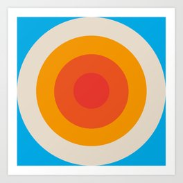 Kauai - Classic Colorful Abstract Minimal Retro 70s Style Graphic Design Kunstdrucke