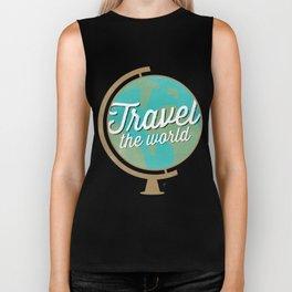 Travel the world - Globe design Biker Tank