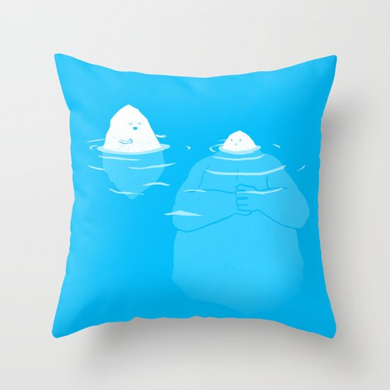 The Tip Of The Iceberg Throw Pillow