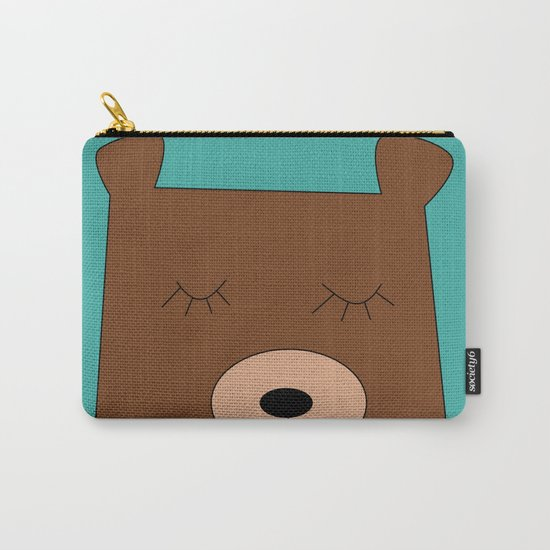 Bear in love Teal Carry-All Pouch