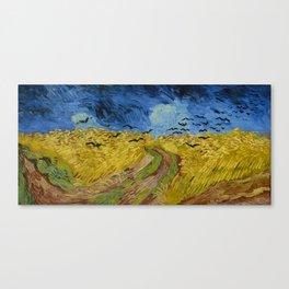 Vincent van Gogh : Wheatfield with crows 1890 Canvas Print