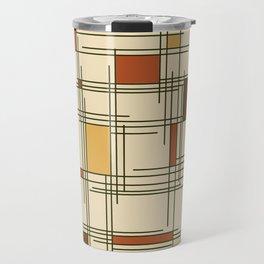 1940s Abstract Art Lines Travel Mug