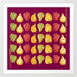 Apples & Pers Art Print
