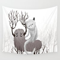 bands Wall Tapestries featuring November by Anya Volk