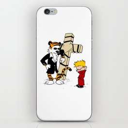 calvin and hobbes iPhone Skin